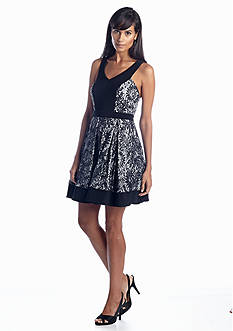 Xscape Fit-and-Flare Party Dress