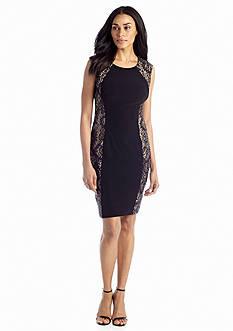 Xscape Cap Sleeve Sheath Dress with Sequin