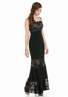 Xscape Lace Bodice Gown