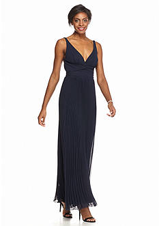 Xscape Pleated Chiffon Gown