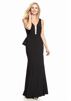 Xscape Open Back Gown
