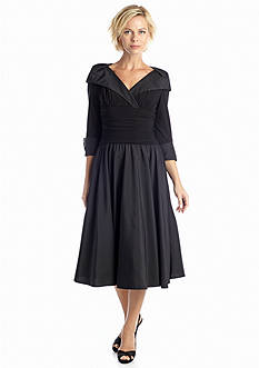 Jessica Howard Three Quarter Sleeve Fit and Flare Dress
