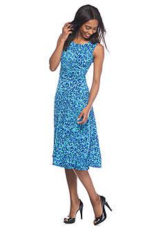 Laura Jeffries Printed A-line Jersey Dress