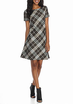 J Howard Plaid A-line Dress