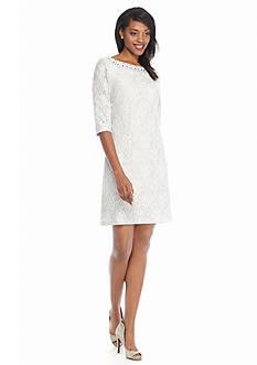 J Howard Lace Sheath Dress