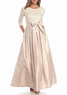 J Howard Lace and Sequin Bodice Ballgown