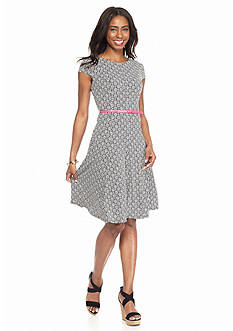 Laura Jeffries Printed Fit-and-Flare Dress