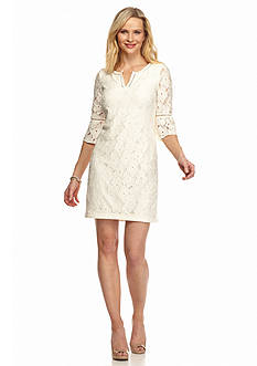 J Howard Allover Lace Shift Dress