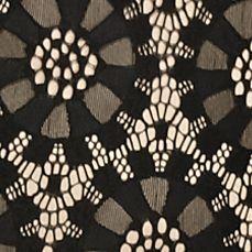 Plus Size Trendy Dresses: Black/Tan J Howard Plus Size Lace Shift Dress