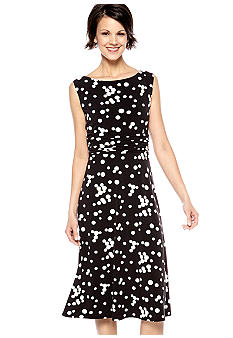 Jessica Howard Sleeveless Polka Dot Dress