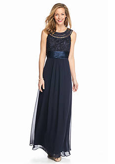 Jessica Howard Embroidered Bodice Gown