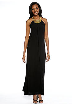 Lennie for Nina Leonard Cleo Neck Maxi Dress