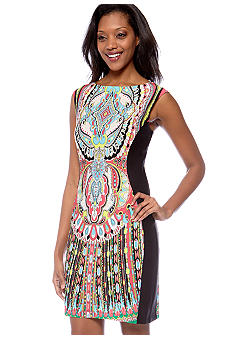 Sandra Darren Sleeveless Printed Shift Dress