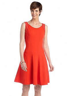 Sandra Darren Sleeveless Fit and Flare dress