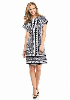 Sandra Darren Printed Shift Dress