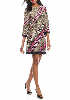 Sandra Darren Paisley Printed Shift Dress
