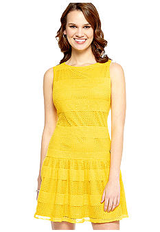 Sandra Darren Sleeveless Allover Lace Dress