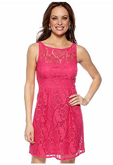 SD Collection Petite Sleeveless Allover Lace Dress