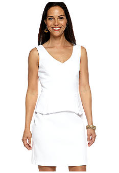 Chelsea Suite Sleeveless Peplum Sheath Dress