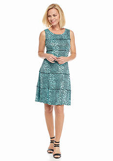 Perceptions Polka Dot Printed A-Line Dress