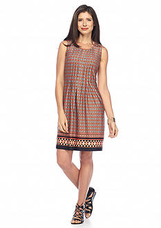 Perceptions Printed Shift Dress