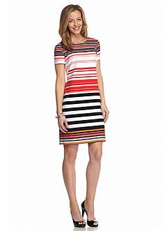 Perceptions Striped Sheath Dress