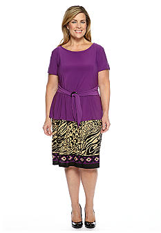 Perceptions Plus Size Two Piece Skirt Set