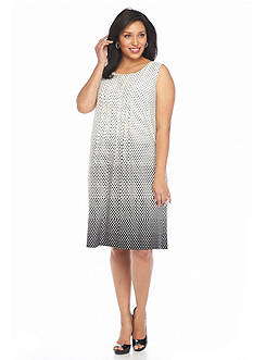Chelsea Suite Plus Size Polka Dot Shift Dress