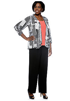 Chelsea Suite Plus Size Three-Piece Pant Set