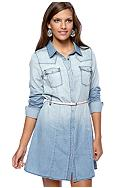Fire Chambray Shirt Dress