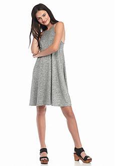 love, Fire High Neck Marled Knit Dress