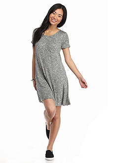 love, Fire Pocket Marled Knit Dress