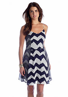 Fire Twin Chevron Print Dress