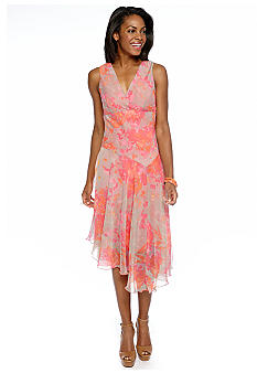 Chris McLaughlin Printed Hanky Hem Dress