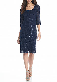 Chris McLaughlin Lace and Sequin Shift Dress