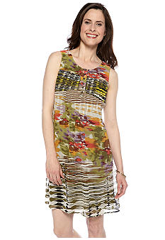 Chris McLaughlin Sleeveless Printed Chiffon Dress
