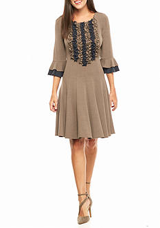 Chris McLaughlin Ruffle Front Trapeze Dress
