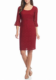 Chris McLaughlin Bell-Sleeve Lace Dress