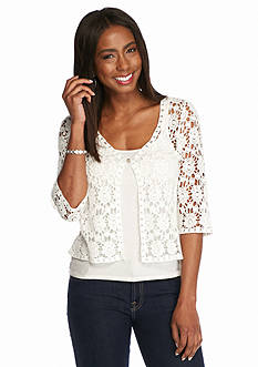 Chris McLaughlin Crochet Lace Shrug