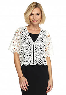 Chris McLaughlin Floral Lace Shrug