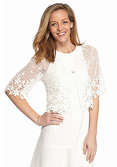 Chris McLaughlin Floral Crochet Shrug