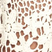 Chris Mclaughlin for Women: Natural Chris McLaughlin Floral Crochet Shrug