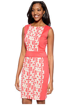 Chris McLaughlin Petite Printed Sheath Dress