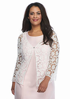 Chris McLaughlin Plus Size Crochet Lace Shrug