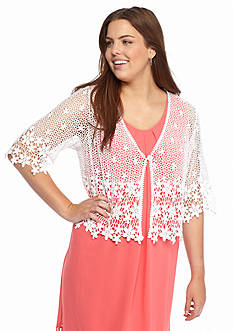 Chris McLaughlin Plus Size Crochet Shrug