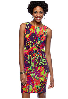 Calvin Klein Sleeveless Printed Dress  - Belk.com :  shop wonderful dress calvin klein sleeveless printed dress women
