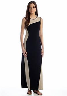 Calvin Klein Sleeveless Colorblock Maxi Dress