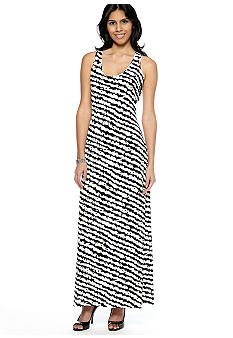 Calvin Klein Racer Back Printed Maxi Dress