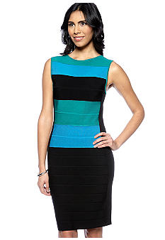 Calvin Klein Sleeveless Striped Sheath Dress