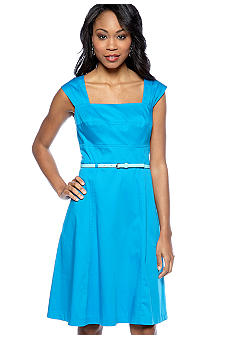Calvin Klein Sleeveless Belted Dress